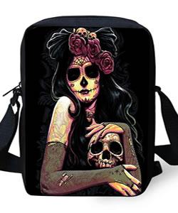 Damen Tasche mit Totenköpfen