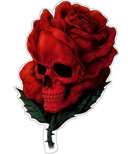 Rosen mit Totenkopf